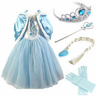 FROZEN DRESS ELSA ANNA PRINCESS DRESS KIDS COSTUME PARTY FANCY ....SNOW QUEEN