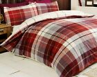 Rapport Red Lomond Scottish Tartan 100% Brushed Cotton Duvet Set S/D/K/SK