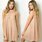 FASHION ON EARTH Sleeveless Dress Relaxed Loose Fit Hippie Boho Style Tunic