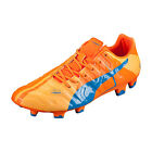 Puma Men's EvoPower 1 H2H FG Orange Clown Fish/Electric Blue Lemonade 103720 01
