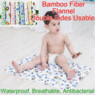 70x50cm Baby Bamboo Fiber Flannel Changing Mat Natural Breathable Kids Urine Pad