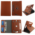 """Folio Cover for Toshiba Thrive 7"""" Tablet-Leather(PU) Case/360° Stand/Card Pocket"""