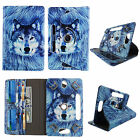 """Folio for Kindle Fire HD 8"""" Tablet Syn Leather Case 360° Stand w/ Card Pockets"""