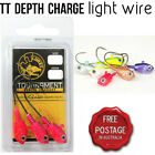 TT Lures Depth Charge Light Wire Jigheads 4/0 5/8oz Jig Heads Lures zman