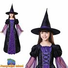 BLACK PURPLE PRINCESS WITCH HALLOWEEN Age 3-10 Girls Childs Fancy Dress Costume
