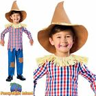 SCARECROW WIZARD OF OZ FAIRYTALE HALLOWEEN AGE 3-10 Boys fancy dress costume