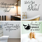 Bathroom Wall Quotes Decoration Art Sayings Words Writing Gift Sticker Transfer