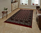 Traditional Regal Soft Artificial Silk Pile Rug Classic Pattern Home Decor Mat