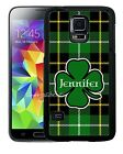 PERSONALIZED ST PATRICKS DAY RUBBER CASE FOR SAMSUNG S4 S5 S6 S7 EDGE PLUS CLOVE