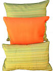 Cushion Cover Shimmering Lime Green Stripes 60cm Euro Back Lumber Support Cover