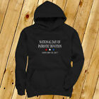 NATIONAL DAY PATRIOTIC DEVOTION PRESIDENT TRUMP Mens Black Hoodie