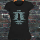 WIND SURFING WATER SPORTS OCEAN SEA BOARD BEACH Womens Black T-Shirt