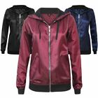 New Ladies Rain Coat Lightweight Anorak Festival Womens Coat Bomber Jacket Top