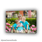 Siblings picture, Custom Canvas Wall Art, Framed Family Picture, Cotton Canvas