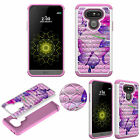 Crystal Rhinestone 3D Diamond Bling Case for LG G5 Shockproof Soft TPU+PC Cover