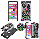 Crystal Bling Jewel Luxury 3D Case for iPod Touch 6 + 5 Shockproof TPU+PC Cover