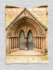 Medieval Gothic Style Middle Age Cathedral Door Themed Art Wall Hanging Tapestry