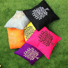 "Cushion Cover Tree of Life 40cm 16"" Meditation Pillow Balinese Boho Cotton"