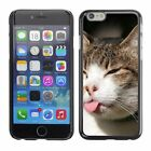 Hard Phone Case Cover Skin For Apple iPhone Funny cat shows tongue