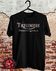 new TRIUMPH MOTORCYCLES Logo classic bike retro Mens t shirt S to 3XL $20.2 USD