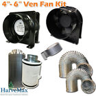 "Quality 4""- 6"" Vent Fan Carbon Filter Duct Hydroponics Grow Tent Ventilation Kit"