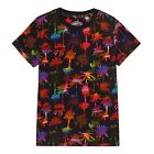 Bluezoo Kids Boys' Black Palm Tree Print T-Shirt From Debenhams