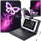 "Xmas Gift For 10"" 10.1 inch Tablet Pattern Leather Case Cover Micro USB Keyboard"