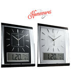 KG Homewares Silent Wall Clock Digital Large Jumbo Date And Day Display