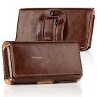 Luxury Leather Horizontal Belt Clip Case Pouch Holster for Iphone 6 7+  Samsung