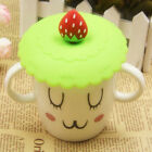Anti-dust Silicone Fruit Glass Cup Cover Suction Leakproof Coffee Mug Lid