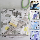 Bassinet Soft Warm Fleece Newborn Baby Blankets Cartoon Sleeping Swaddle USA BA