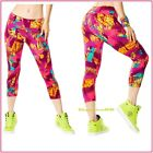 ZUMBA So Samba Perfect Capri Leggings Love Mell-Oh-Yellow XS S M L