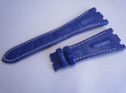 28MM LEATHER BAND STRAP FOR AUDEMARS PIGUET ROYAL OAK OFFSHORE Blue And Navy