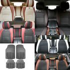 PU Leather Seat Cushion Cover w/ Gray Floor mats Headrests for Auto 5 Colors $209.99 USD
