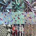 Premium Quality Printed Viscose Rayon Cotton Stretch Lycra Fabric Material VSC
