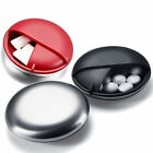 Travel Day Tablet Vitamin Round Box Pill Storage Case Medicine Organizer Holder