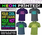 Novelty, Fun t-shirt,  Neon Warning, hazard tee adult shirts