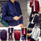 US STOCK Men's Retro Classic Padded Casual Bomber Jacket Flight Coat Zip Outwear