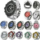 New Women's Girl's Cute Ring Watch Retro Finger Rings Elastic Band Punk Watches
