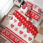 3 Pce Heart Red Quilt Doona Duvet Cover Set by Accessorize - DOUBLE KING