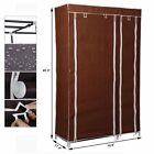 69  Portable Closet Storage Organizer Clothes Wardrobe Shoe Rack with Shelves JX