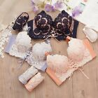 Sexy Embroidery Flower Padded Push-Up Bras Underwire Bra Sets 32 34 36 (AB) #802
