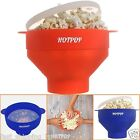Microwave Popcorn Popper Maker HOTPOP Collapsible Cooking Container with Handles