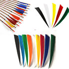 "5""  /4""  Shield Shape Fletching Turkey Feather Right wing for Arrows DIY  Vanes"