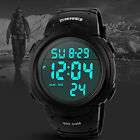 Men's Boy Military Digital Led Date Sport Rubber Waterproof Quartz Wrist Watch