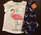 "NWT Gymboree Girl Mix ""N"" Match Flamingo Tee Leggings Outfit 5 6 7 8 10 12"