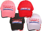 Patriotic Proud To Be An American Embroidered Hat MAGA USA