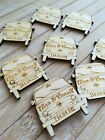 VW Camper Van Wooden PERSONALISED Wedding & Party Table Confetti Scatter Favours
