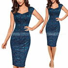 Sexy Women Ladies Floral Lace Casual Cocktail Party Sheath Bodycon Dress