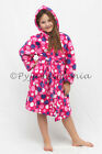 Pyjamas Girls Fleece Hooded Dressing Gown (Sz 0-2) Hot Pink Polka Dots Sz 0 1 2